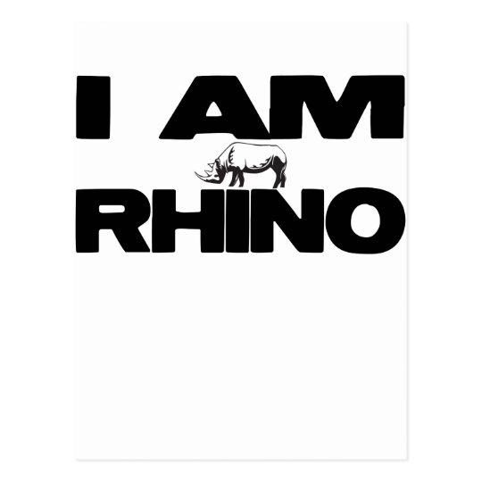 I AM RHINO POSTCARD