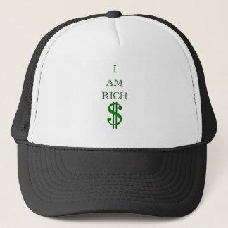 I Am Rich Design Trucker Hat