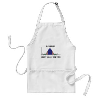I Am Right About 95% Of The Time Bell Curve Humor Adult Apron