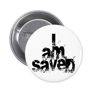 I AM Saved Christian 2 Inch Round Button