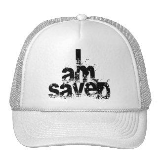 I AM Saved Christian Hats