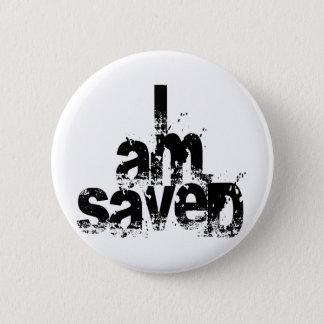 I AM Saved Christian Pinback Button