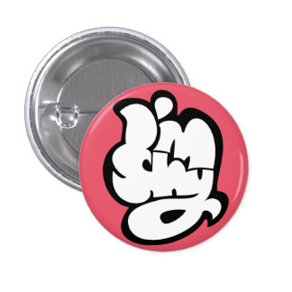 i am shy badge pinback button