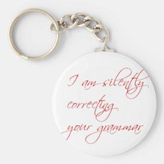 I am silently correcting your grammar-script keychain