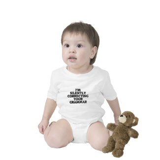 i am silently correcting your grammar baby bodysuits