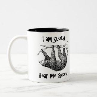 I am Sloth Hear Me Snore! Two-Tone Coffee Mug