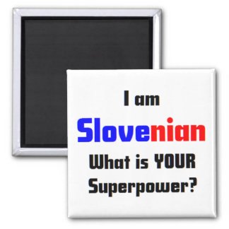 I am Slovenian 2 Inch Square Magnet