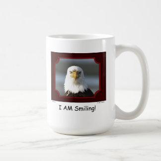 """I AM Smiling!"" Bald Eagle Coffee Mug"