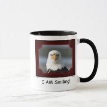 """""""I AM Smiling!"""" Bald Eagle Mug"""