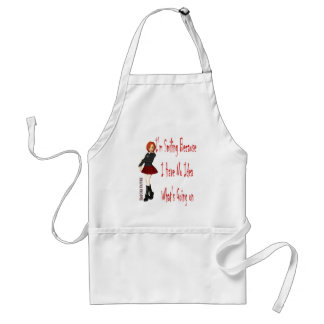 I Am Smiling because I have No Idea What is Going Adult Apron