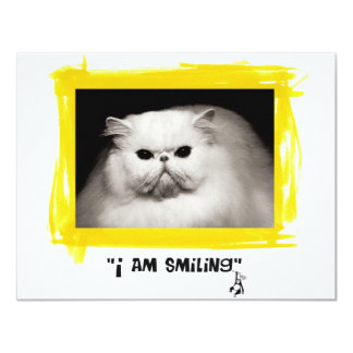 I am smiling card