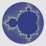 I Am So Blue - Fractal Classic Round Sticker