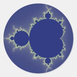 I Am So Blue - Fractal Classic Round Sticker
