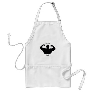 I am so buff adult apron