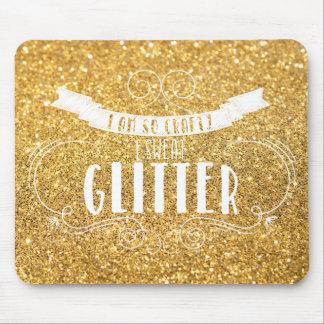 I Am So Crafty I Sweat Glitter CUSTOM Mousepad Mouse Pad