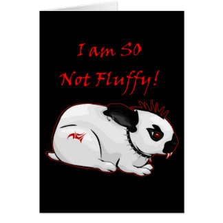 I Am SO Not Fluffy! (bunny) Greeting Card