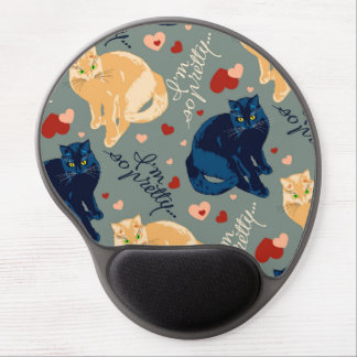 I am so pretty cat! gel mouse pad