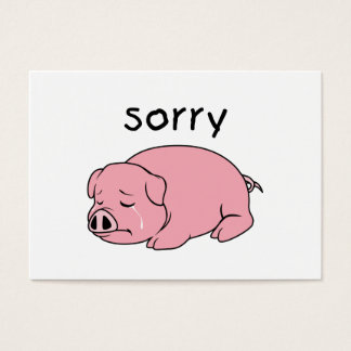 I am so Sorry Crying Weeping Pink Pig Stamp Cards