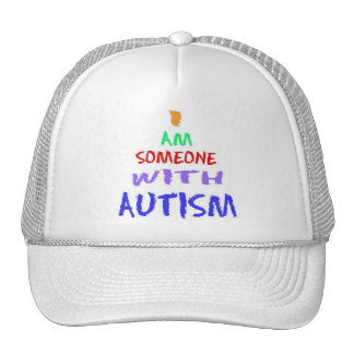 """""""I AM SOMEONE WITH AUTISM"""" (Painted) Hats"""