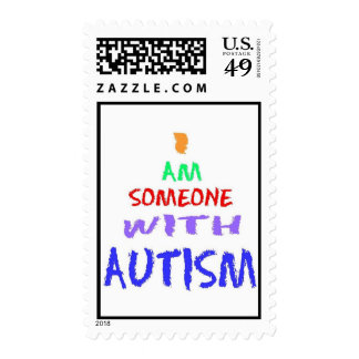 """""""I AM SOMEONE WITH AUTISM"""" (PAINTED) POSTAGE"""