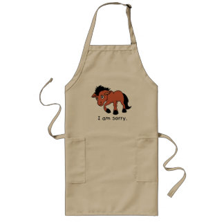 I am Sorry Crying Weeping Foal Young Horse Plates Long Apron