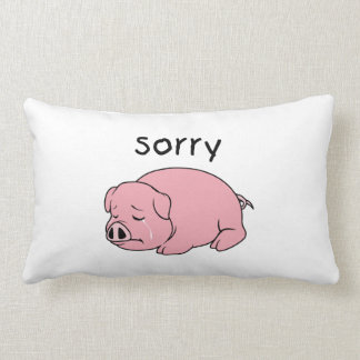 I am Sorry Crying Weeping Pink Pig Card Mug Button Throw Pillows
