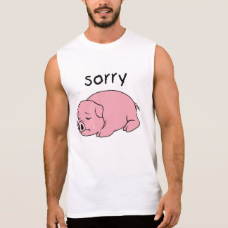 I am Sorry Crying Weeping Pink Pig Tee Shirt