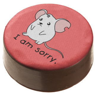 I am Sorry Crying Weeping White Mouse Chocolate Chocolate Dipped Oreo