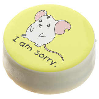 I am Sorry Crying Weeping White Mouse Chocolate Chocolate Covered Oreo