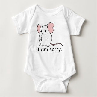 I am Sorry Crying Weeping White Mouse Kids T Shirt