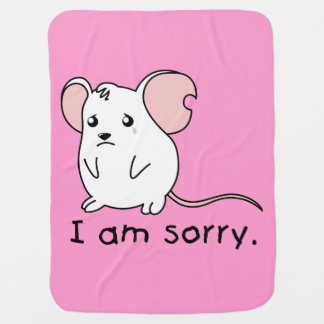 I am Sorry Crying Weeping White Mouse Kids T Shirt Swaddle Blankets