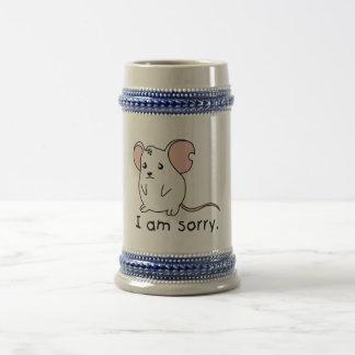 I am Sorry Crying Weeping White Mouse Mug Pillow
