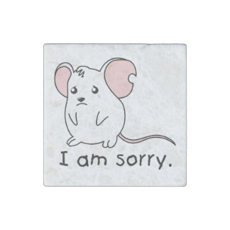 I am Sorry Crying Weeping White Mouse Mug Pillow Stone Magnet