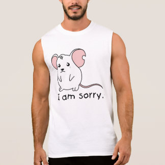 I am Sorry Crying Weeping White Mouse T Shirt Polo