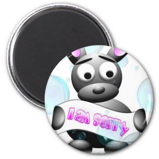 I Am Sorry 2 Inch Round Magnet