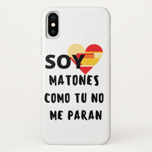 I AM SPANISH iPhone X CASE