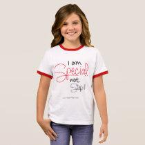 I am Special, Not Stupid - Girl Ringer T-Shirt
