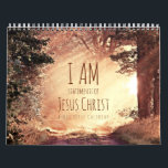 "I am Statements of Jesus Christ Bible Verse Calendar<br><div class=""desc"">I am Statements of Jesus Christ Bible Verse Calendar. An inspirational Christian calendar gift. Features beautiful matching images for each &#39;I am&#39; statement of the Lord Jesus Christ. These Bible verses are taken from the King James Bible version. Since this calendar is customized you can replace the text to your...</div>"