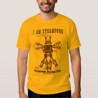 I AM STEAMPUNK: Vitruvian Steambot T-shirt