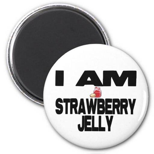 I Am Strawberry Jelly 2 Inch Round Magnet