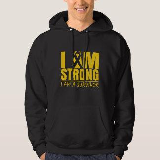 I am Strong - I am a Survivor - Childhood Cancer Hooded Pullover