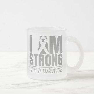 I am Strong - I am a Survivor - Diabetes 10 Oz Frosted Glass Coffee Mug
