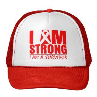 I am Strong - I am a Survivor - Heart Disease Trucker Hat