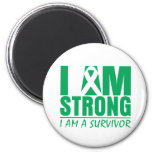 I am Strong - I am a Survivor - Liver Disease Refrigerator Magnets