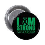 I am Strong - I am a Survivor - Liver Disease Pins