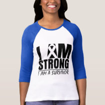 I am Strong - I am a Survivor - Melanoma T-Shirt