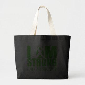 I am Strong I am a Survivor Non-Hodgkin's Lymphoma Bags