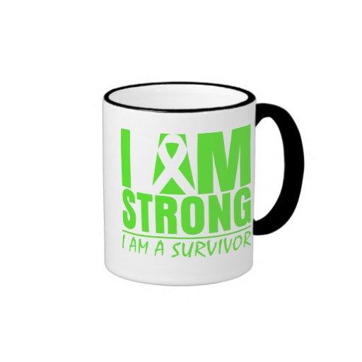 I am Strong I am a Survivor Non-Hodgkin's Lymphoma Mugs