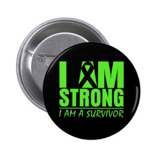 I am Strong I am a Survivor Non-Hodgkin's Lymphoma Pinback Button