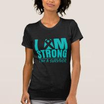 I am Strong - I am a Survivor - Ovarian Cancer T-Shirt